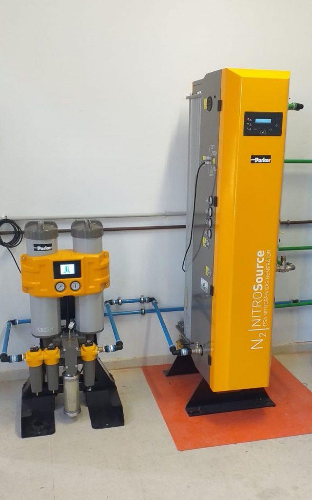 sistema de generación de nitrogeno