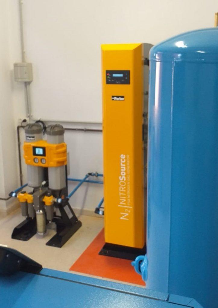 instalación de generacion de gas nitrógeno