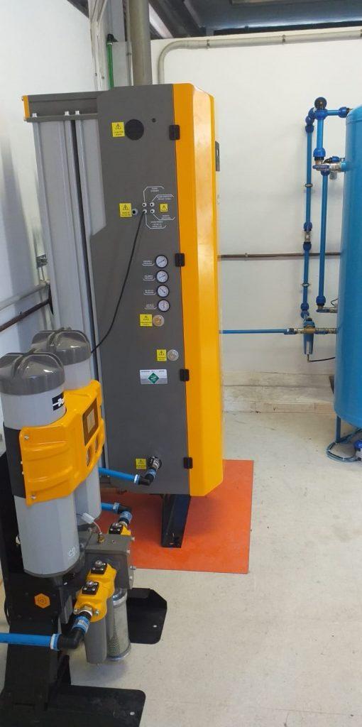 instalación de generación de gas nitrógeno