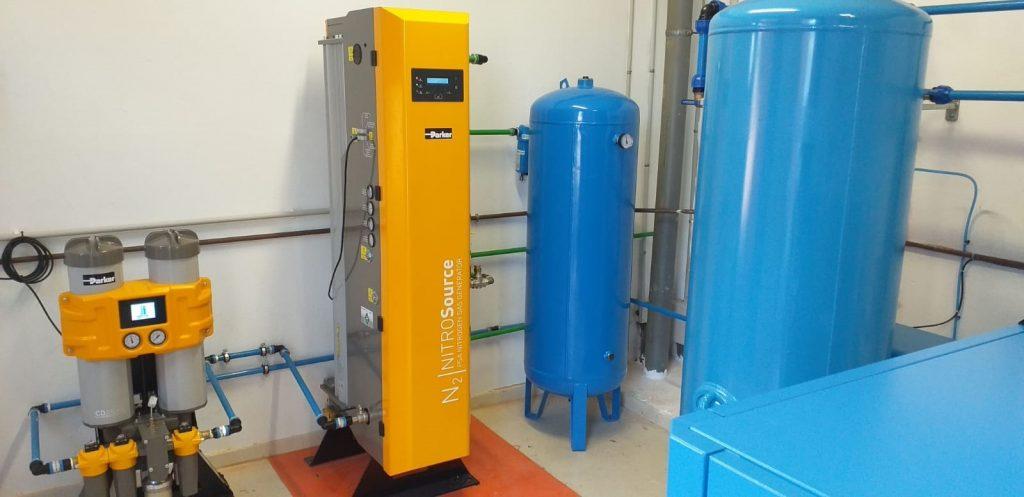 instalación de generación de nitrógeno